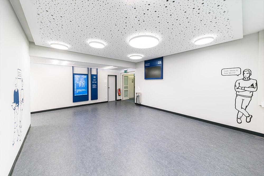 Wand und Deckenleuchte - Pare 1485 superflach - Projektbild-1