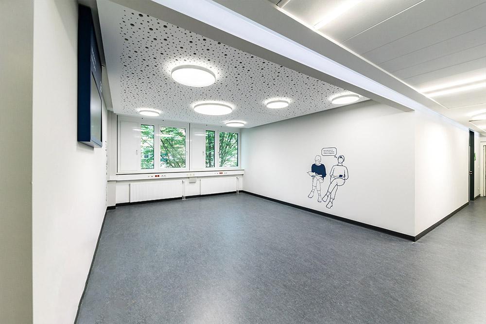 Superflache Wand und Deckenleuchte