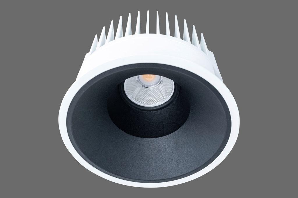 Unio 620 LED Einbau-Downlight schwarzem Reflektor