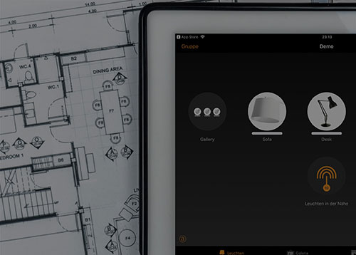 Bluetooth Lichtsteuerung mit SARO-lux